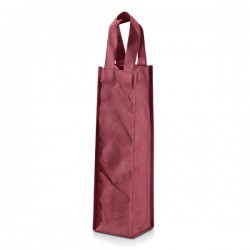 Non Woven Fabric Bags 80g / m2 for 1 Bottle with handle